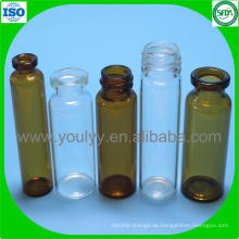 Klar und Amber Tubular Glass Vial