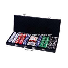 500PCS Poker Chip Set in Black Color Leather Case (SY-S46A)