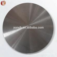 Cible de titrage de cible de pulvérisation de 99,99% en titane pour le revêtement sous vide