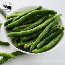 Suministro de fabricante deliciosos chips de guisantes verdes al por mayor