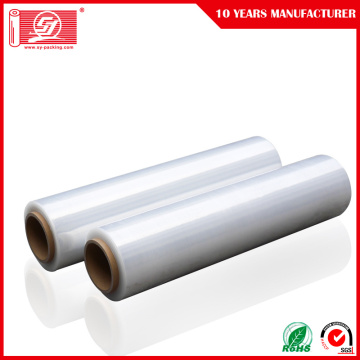 Hand Använda Stretch Film Plastic Wrapping Roll