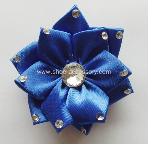 Satin Ribbon Multilayers Flower With Crystal
