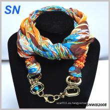 2014 joyas de tubo de la bufanda de la manera de las señoras