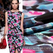 12mm Digital Printed Crepe Silk for Garment Fabric