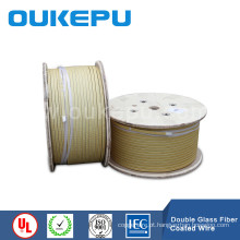 Fio condutor de alumínio coberto de fibra de vidro, fibra de vidro cobre Lisa fio, o fio de cobre retangular vidro de fibra