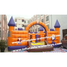 0.55mm Pvc Tarpaulin Inflatable Fun City Bouncing Playground For Kids Amusement Park