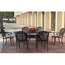 Cast Aluminium Dining Set Metall Garten Patio Outdoor-Möbel