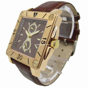 Charm Stainless Steel Watch Square Face (HAL-2401)
