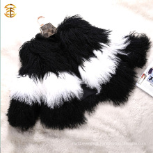 2016 Stylish Type Tibet Sheep Fur Short Overcoat Real Lamb Fur Coat