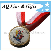 Gold Medal with Digital Printing & Epoxy