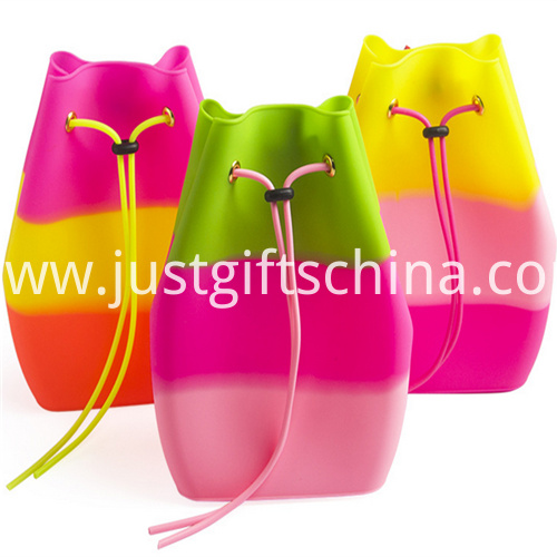 Promotional Candy Colors Silicone Backpack Bag for Kids 1
