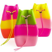 Werbeartikel Bonbonfarben Silikon Rucksack Tasche für Kinder