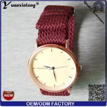 Venda quente relógio de moda para meninas presente relógio relógio de Perlon cinta promoção senhoras pulso Perlon cinta relógio YXL-040