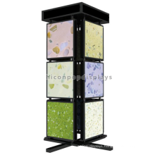 Quality Assured Freestanding Metal 3-Tier 4-Way Marble Bathroom And Kitchen Flooring Tile Display