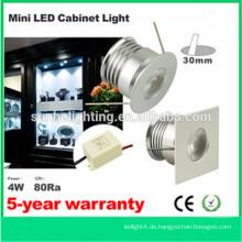 Dongguan billig 6 * 4w LED Küche Schrank Licht führte Mini-Spot-Licht in China