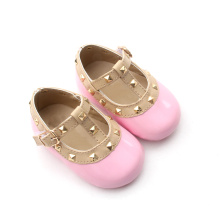Requintado Rivet Adorável Pink Baby Girls Dress Shoes