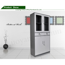 Modern customized office 2 drawer steel swing door thin file cabinet