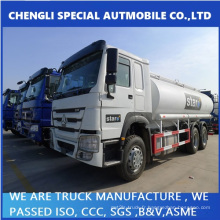 20000L ~ 25000L 336HP HOWO camion de réservoir d'huile 6 X 4