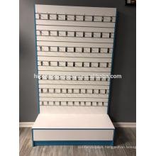 Freestanding Detachable Hooks Wood Slatwall Smart Phone Accessories Retail Store Display Design