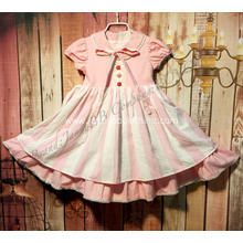 girls cotton materials summer boutique dress