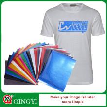 Feuilles de vinyle de transfert de chaleur de paillettes multicolores de QingYi