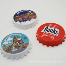 Souvenir Magnetic Plastic Round Bottle Opener for Home Decoration