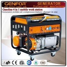 バッテリーチャージャー、溶接機、ジェネレーター、エアーコンプレッサー用のGF10-Gawaガソリン4 in 1マシン。