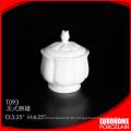 Hotel Restaurant China Geschirr Steinzeug-Keramik Zuckerdose verwendet