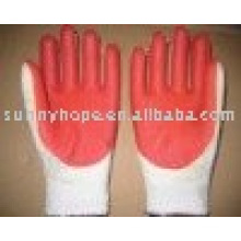 7 gauge red rubber palm glove for construction