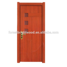 Estilo de puertas de dormitorio de MDF interno de melamina ecológico