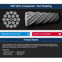 Offshore / treuil / grue non-rotatif câble compacté 19 * 7