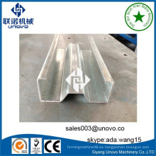 Rack de almacenamiento de acero sigma rollo perfil de formación de equipos