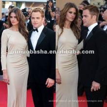 Long Sleeve Sex Celebrity Red Carpet Dress