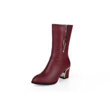 Red High Heel Boots, Women Boots
