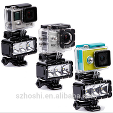 Accessories Underwater Light Diving waterproof LED video light+Battery&buckle mount For GoPro Session/Hero4/3+/3/5/6