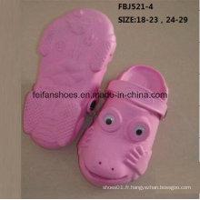 Vente chaude mode chaussures de jardin EVA pour les enfants (FBJ521-4)