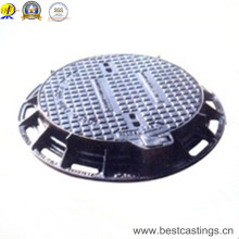 Ductile Iron Round Manhole Cover with Lock Hinge