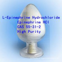 Epinefrina CAS 55-31-2 não-esteróide Pharma API do hidrocloro da L-Epinefrina da pureza alta de Hci da epinefrina