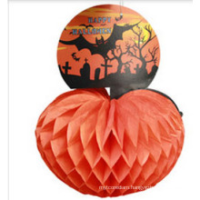 25 Cm Vintage Halloween Honeycomb Tissue Paper Pumpkin Centerpiece