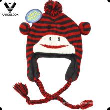 Boné de inverno bonito crianças chapéu de animal