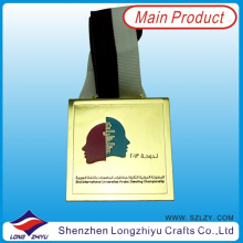 Fabric Medal Ribbon Custom Design Sport Metal Medal