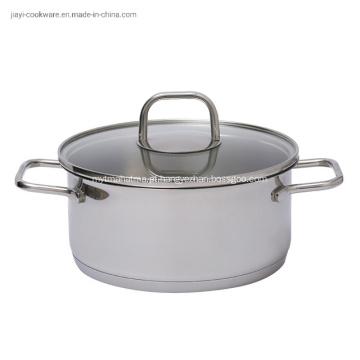 Panela de aço inoxidável para cozinha em restaurantes