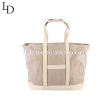 Neue Design Große Kapazität Leinwand Tote Bag Lady Schultertasche
