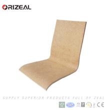 Grand siège plié de chaise de contreplaqué de vente d'usine et remplacement de chaise de diner de dos pour l'espace de nourriture