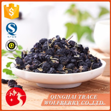 Low price guaranteed qualitydried black wolfberry 100%
