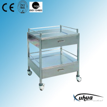 Stainless Steel Hospital Medical Medicine Delivery Cart (Q-23)