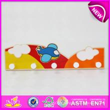 2014 conception créative vêtements crochet pour les enfants, crochet en bois respectueux de l'environnement pour les enfants, vente chaude joli crochet mural pour bébé W09b049
