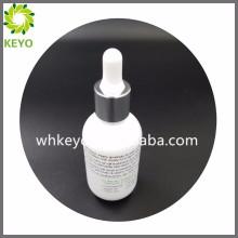 Botella cosmética del dropper del vidrio del fondo del grueso del embalaje del perfume vacío coloreado blanco de lujo 30ml
