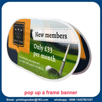Horizontal Bean pop-up Banner A-Frame con impresión