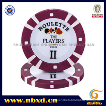 8g 2color Pure Clay Poker Chip avec Sticker Personnalisé